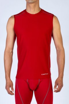 Give-N-Go Sport Mesh Sleeveless Crew, Stop, medium
