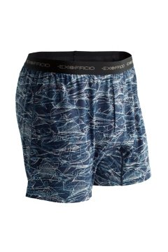 Give-N-Go Printed Boxer, Navy/Sketched Fish, medium