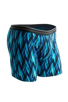Sol Cool Print Boxer Brief, Atlantic/Modern Argyle, medium
