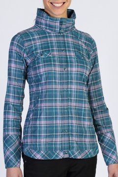 Alba Plaid L/S, Marina, medium