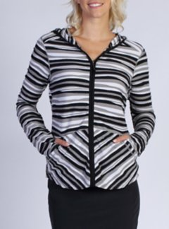 Techspressa Stripe Hoody, Black, medium