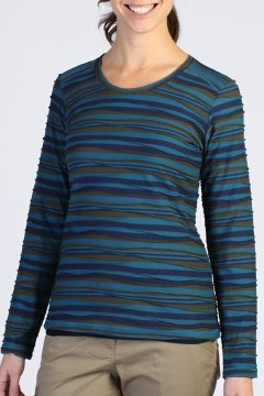 Techspressa Stripe L/S, Navy, medium