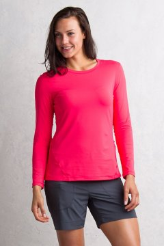 Sol Cool Performance L/S, Teaberry, medium