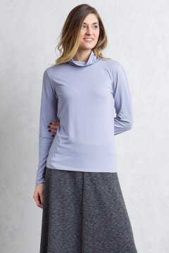 Wanderlux Turtleneck, Lilac Grey, medium