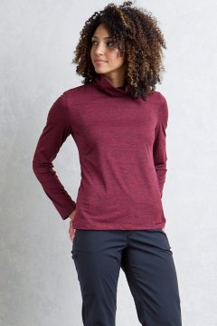 Wanderlux Marl Turtleneck, Malbec Marl, medium