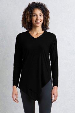 Wanderlux V Neck Tunic, Black, medium
