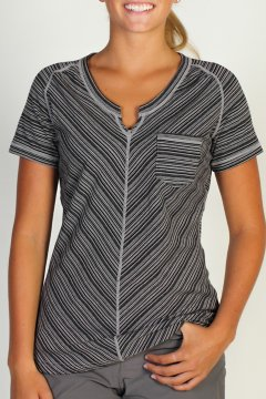 Go-To Pocket Stripe S/S, Black/Cement, medium
