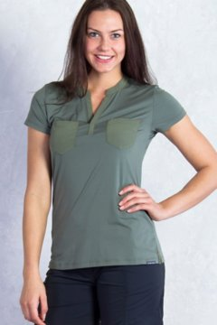 Wanderlux Henley S/S, Bay Leaf, medium