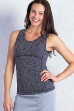 Wanderlux Texture Tank, Charcoal Heather, medium