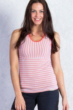 Wanderlux Stripe Tank, Hot Coral, medium