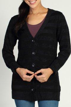 Irresistible Dolce Stripe Cardigan, Black, medium