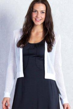 Serata Bolero Sweater, White, medium