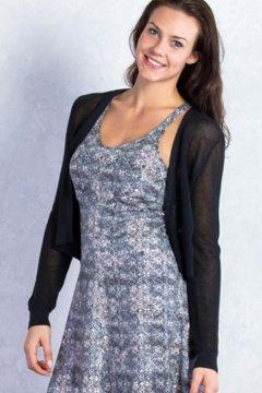 Serata Bolero Sweater, Black, medium