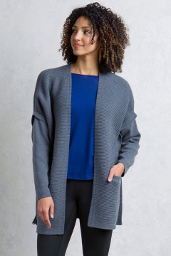 Gabriola Cardigan, Grey Heather, medium