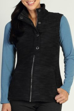 Calluna Fleece Vest, Black, medium