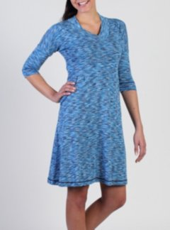 Chica Cool V Neck 1/2 Sleeve Dress, South Pacific, medium