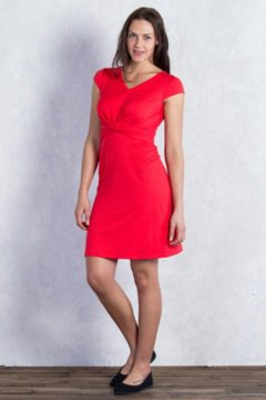Wanderlux Twist Dress, Sriracha, medium