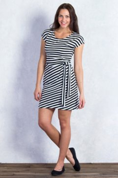 Salama Stripe Dress, Black Stripe, medium