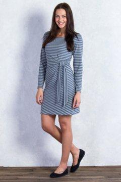 Wanderlux Stripe Salama Dress, Charcoal Heather, medium