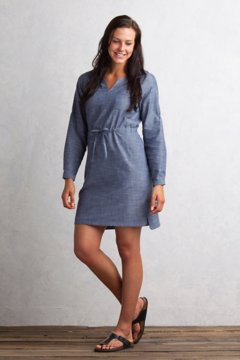 Sol Cool Chambray Dress, Indigo, medium