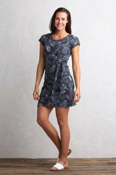 Salama Print Dress, Carbon, medium