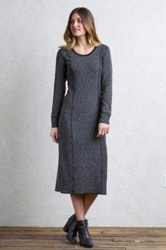 Cordova Reversible Midi Dress, Black Marl/Black, medium