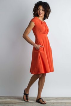 Kizmet Cross-Front Dress, Paprika, medium