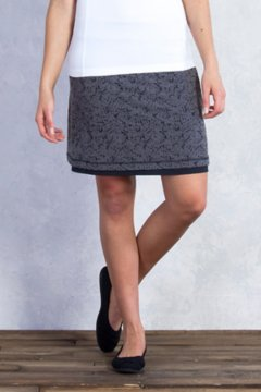 Wanderlux Reversible Texture Skirt, Charcoal Heather, medium