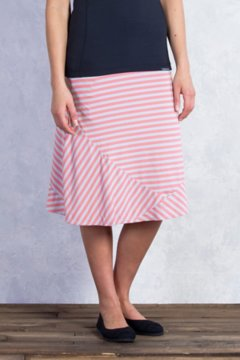 Wanderlux Stripe Convertible Skirt, Hot Coral, medium