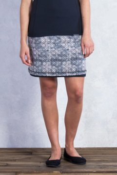 Wanderlux Reversible Print Skirt, Dk Pebble Print, medium