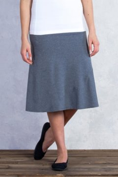 Wanderlux Convertible Skirt, Charcoal Heather, medium