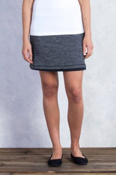 Wanderlux Jacquard Reversible Skirt, Charcoal Heather, medium