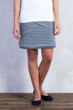 Wanderlux Stripe Reversible Skirt, Charcoal Heather, medium