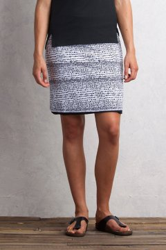 Wanderlux Reversible Print Skirt, Black/White, medium