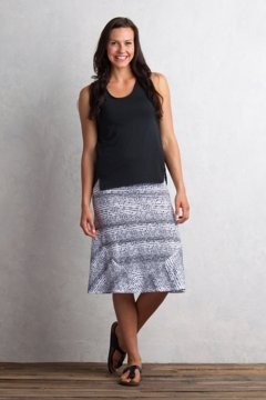 Wanderlux Convertible Print Skirt, Black/White, medium