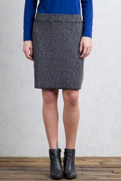 Cordova Reversible Skirt, Black Marl/Black, medium