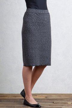 Cordova Reversible Knee Length Skirt, Black Marl/Black, medium