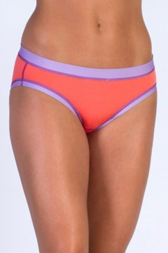 Give-N-Go Sport Mesh Bikini Brief, Hot Coral, medium