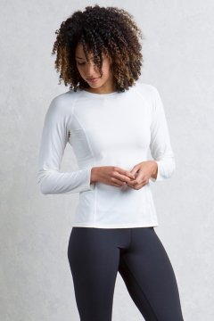 Give-N-Go Performance Base Layer Crew, Alyssum, medium