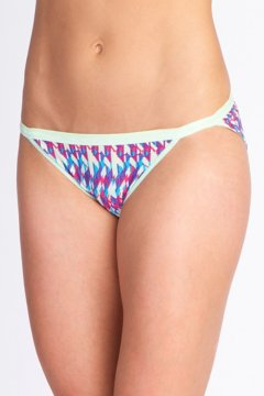 Give-N-Go Printed String Bikini, Mojito/Spliced Geo, medium