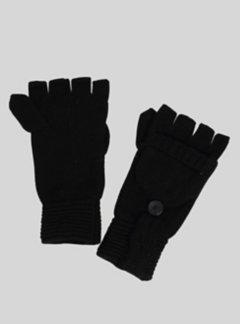 Cafenista Convertible Mittens, Black, medium