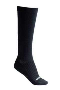 Travel Compression Sock, Black, medium