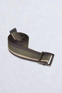 Web Belt, Khaki Stripe, medium