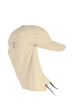BugsAway Sol Cool Cape Hat, Lt Khaki, medium