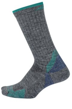BugsAway Solstice Canyon Crew Sock, Grey Heather, medium