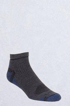 BugsAway Hiker Quarter Sock, Dk Charcoal, medium