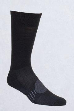 BugsAway Travel Crew Sock, Black, medium