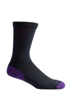 BugsAway Sol Cool Crew Sock, Blackberry, medium