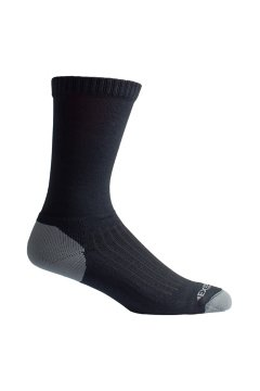 BugsAway Sol Cool Crew Sock, Black, medium