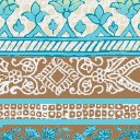 Next-to-Nothing Geo Print Artisan, Azul Print, swatch